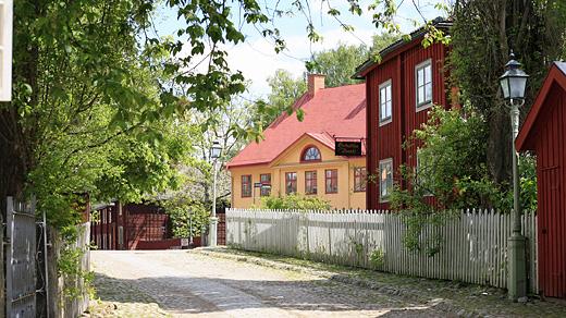 Hattmakaregatan i Friluftsmuseet Gamla Linköping. Foto: Gamla Linköping
