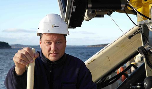 Joakim Holmlund, projektledare vid Marin Mätteknik och forskare vid Maris. Foto: Erik Ungman