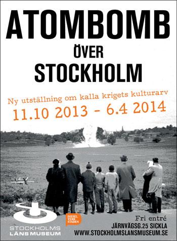 Utställningsaffischen för Atombomb över Stockholm