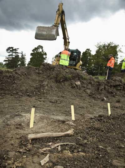 Utgrävningen vid Broby bro i Täby