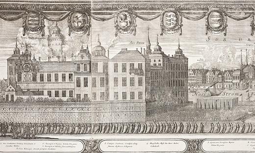 Karl X Gustavs begravningsprocession (detalj av kopparstick)