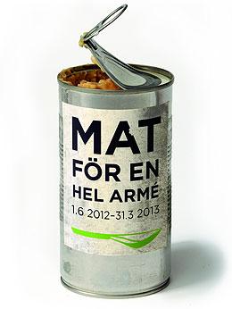 Lanseringsbild för utställningen Mat för en hel armé. Foto: Per-Åke Persson