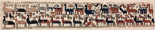Överhogdalsbonaderna. Bonad I B. Snärjväv, 195 x 35 cm. Foto: Jamtli