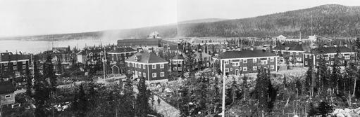 Porjus kraftverkssamhälle. Foto: Tekniska museets arkiv