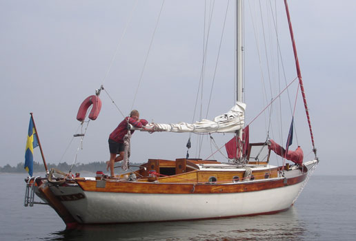 Sabina byggdes som Svenska kryssarklubbens utlottningsbåt 1937. Foto: Kerstin Iverfeldt