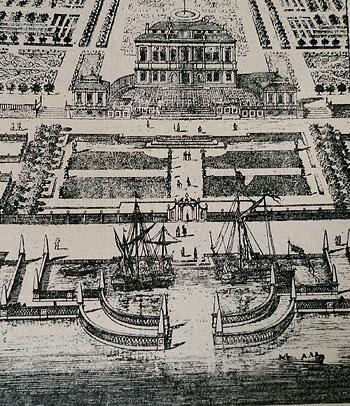 """Steninge slott i Erik Dahlbergs """"Suecia antiqua et hodierna"""""""