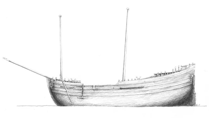 1600-talsvraket. Teckning: Deep Sea Productions