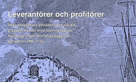 Handeln med fästningsbygget Sveaborg 1748-1756