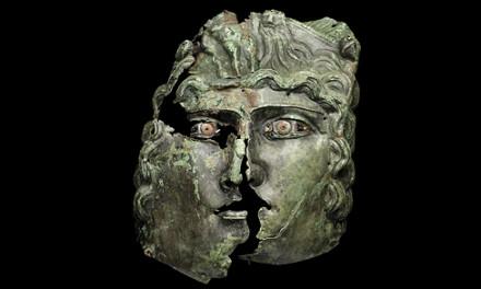 Unik romersk mask visas på Historiska museet