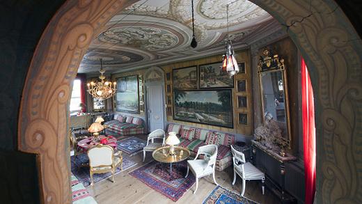 Stora rummet på Biby herrgård. Foto: Bokförlaget Langenskiöld (CC BY 3.0).