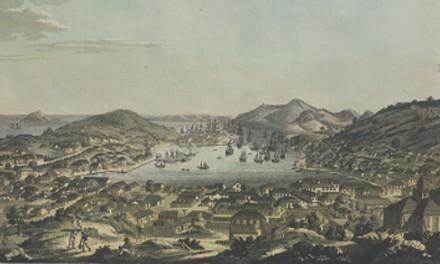Frihamnen Gustavia på S:t Barthélemy