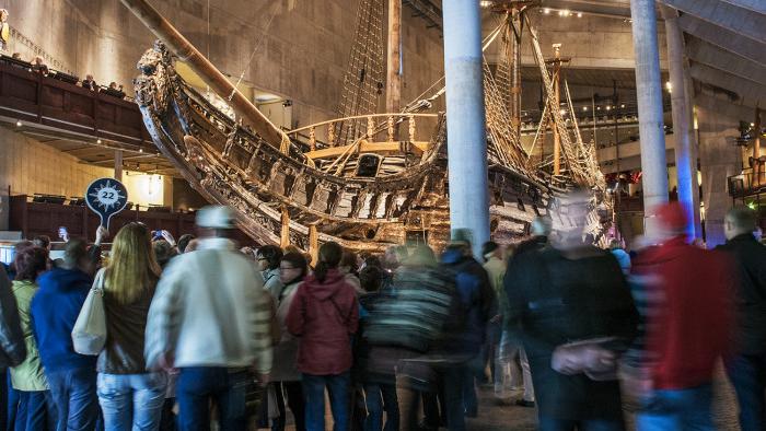 Besökare på Vasamuseet. Foto: Vasamuseet