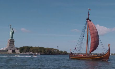 Vikingaskepp seglade in i New York