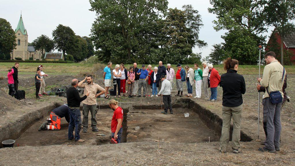 Utgrävningarna i Uppåkra 2016. Foto: Uppåkra Arkeologiska Center