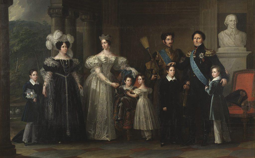 Fredric Westin: Bernadotteska Familjetavlan (1837) (beskuren).