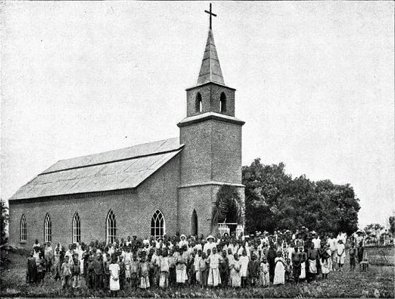 Kibunzi nya kyrka i Kongo.