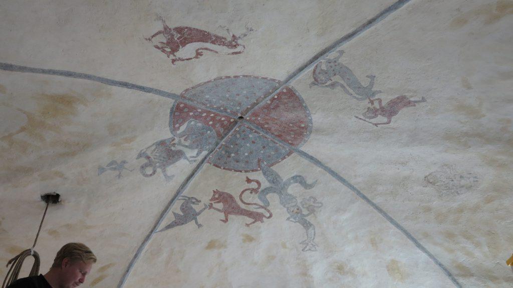 Takmålningar i Valls kyrka. Foto: Pär Malmros/Gotlands museum