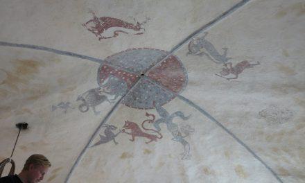 Takmålning från 1200-talet upptäckt på Gotland