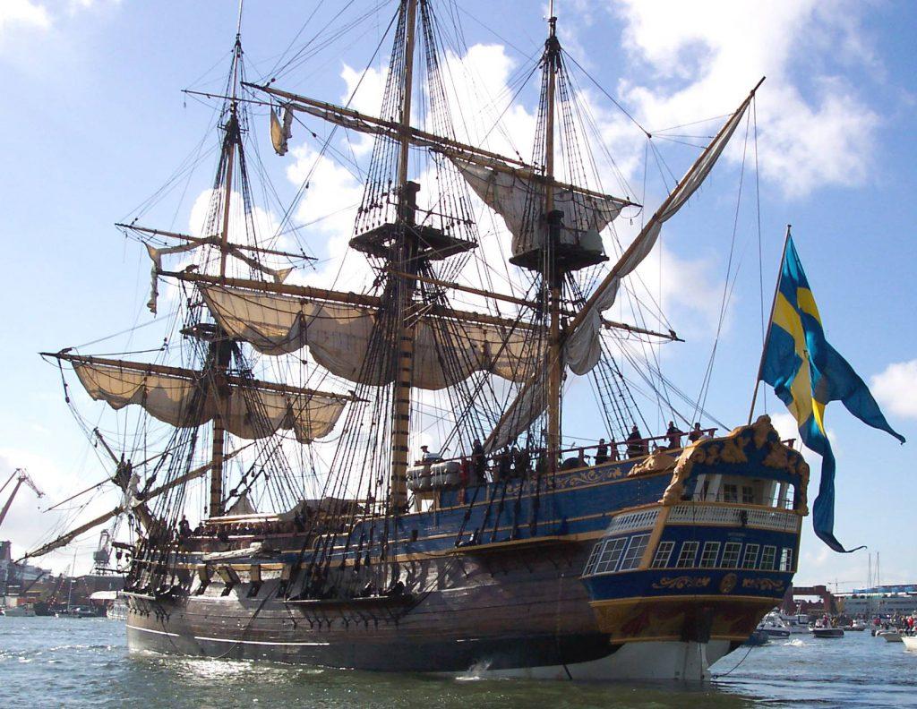 Ostindiefararen Götheborg. Foto: Fred J/Wikimedia Commons
