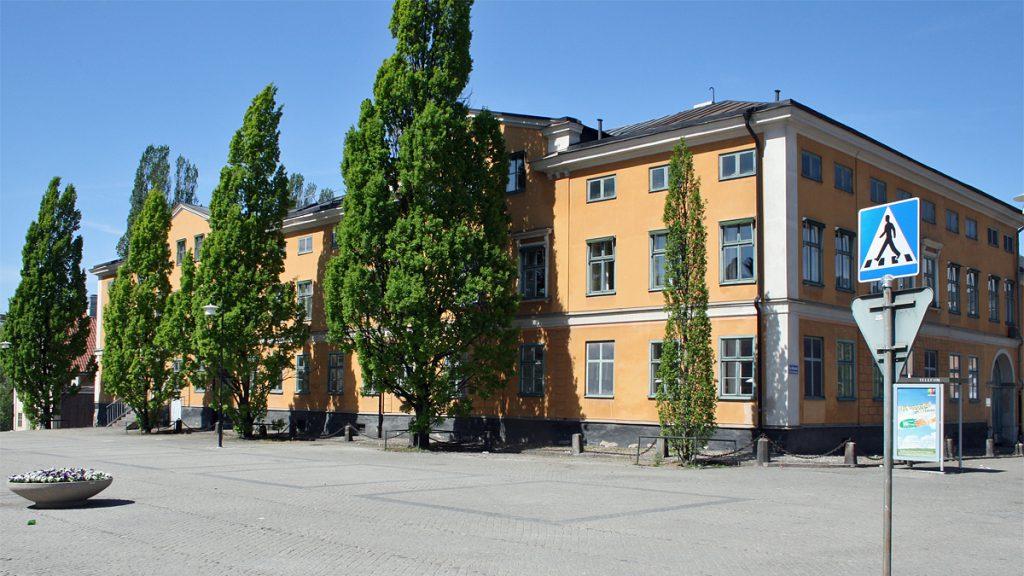 Eschelsonska huset vid Gamla torget i Norrköping. Foto Sakletare (Wikimedia Commons )