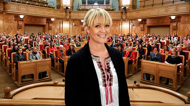 """Kattis Ahlström i SVT:s """"Kvinnorna på fröken Frimans tid"""". Foto: SVT"""