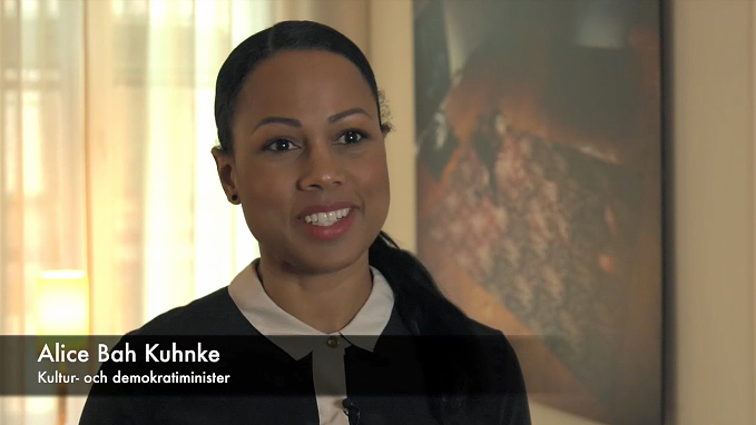 Alice Bah Kuhnke - skärmdump ur presentationsfilm om Kulturarvspropositionen