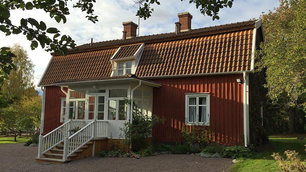 Huset där Astrid Lindgren föddes och växte upp. Foto: Astrid Lindgrens Näs