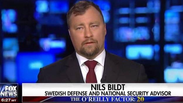 Nils Bildt. Skärmdump från Fox News
