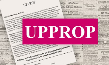 Släktforskarförbundet startar tidningsupprop