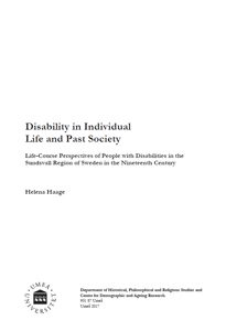 Disability in individual life and past society