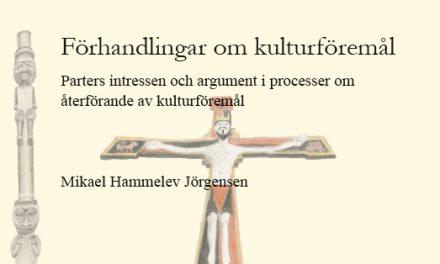 Förhandlingar om återförande av kulturföremål