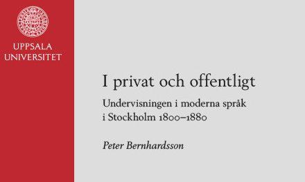 Undervisningen i moderna språk i Stockholm 1800–1880