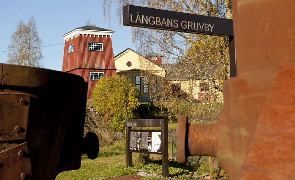 Långbans gruv- och kulturby. Foto: Lars Sjöqvist (CC BY 3.0)