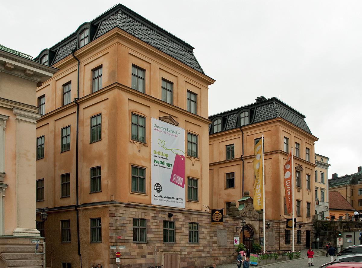 Kungliga Myntkabinettet. Foto: Sören Eriksson (Wikimedia Commons CC BY-SA 3.0)