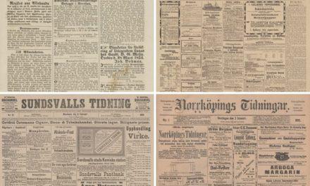 Ännu fler historiska nyheter i KB:s onlinetjänst