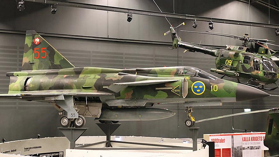 Flygvapenmuseums exemplar är det sist byggda av versionen AJ 37 Viggen.