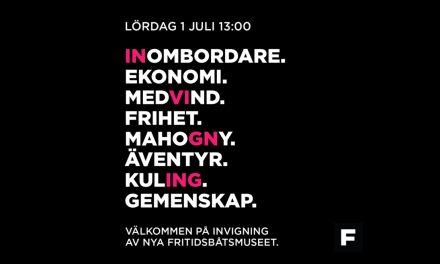 Sveriges första fritidsbåtsmuseum invigt i Härnösand