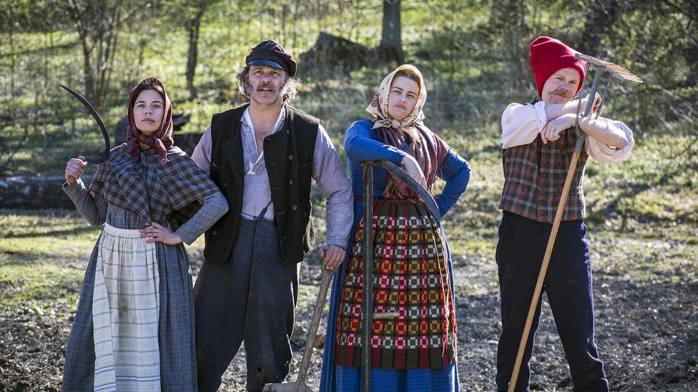 Lotta Lundgren, Erik Haag, Kakan Hermansson och Olof Wretling. Foto: SVT