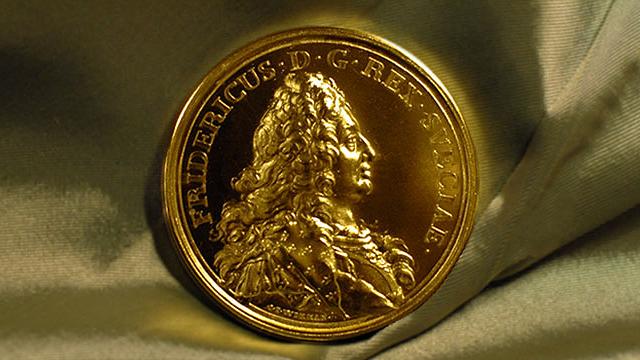 Jernkontorets stora medalj i guld .