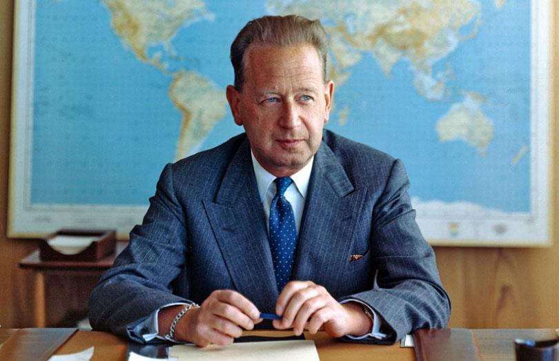 Dag Hammarskjöld. Foto ur FN:s arkiv