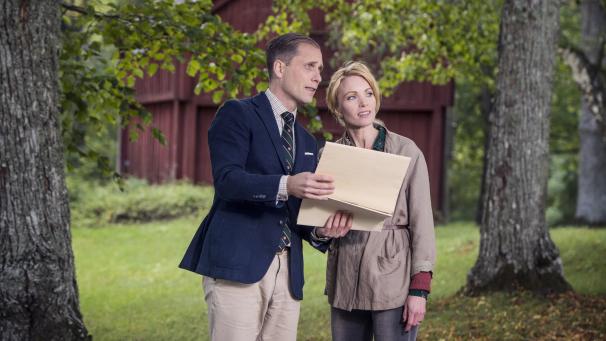Christopher O'Regan och Erika Åberg. Foto: Magnus Liam Karlsson/SVT