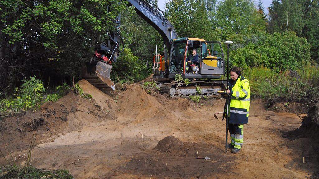 Utgrävning i Pryssgården i Norrköping. Foto: Arkeologerna