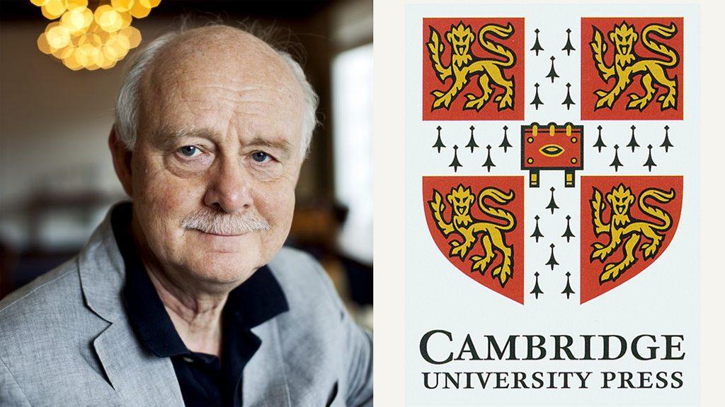 Kristian Kristiansen + Cambridge University Press-logotyp. Foto: Johan Wingborg