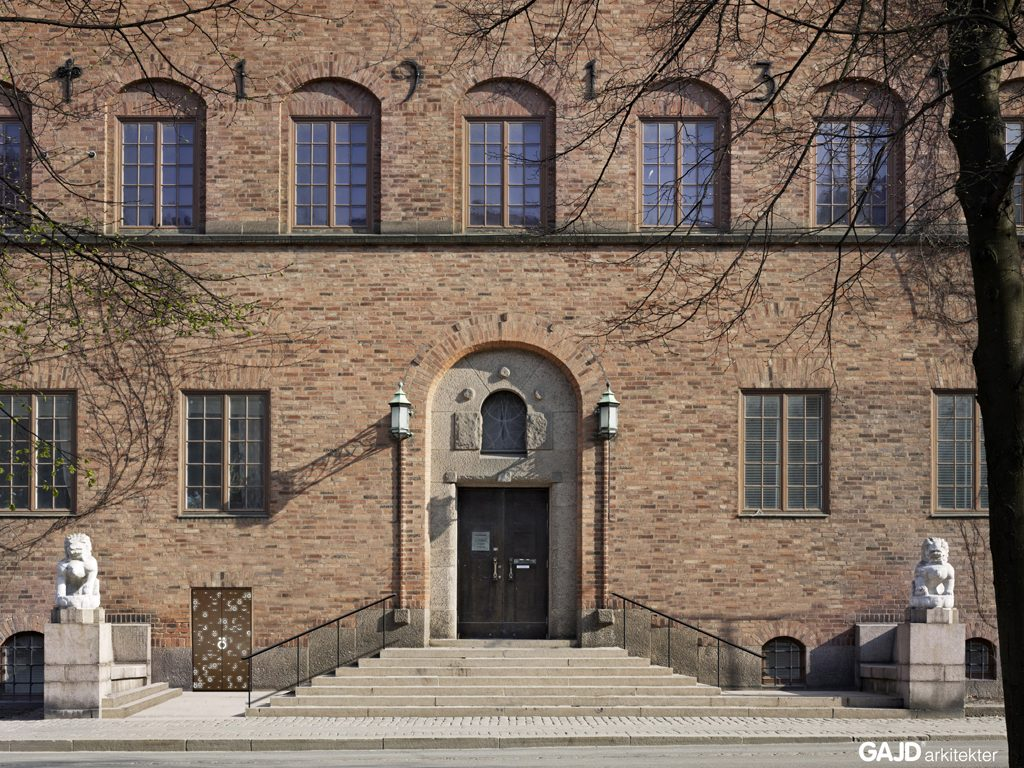 Röhsska museet ska bland annat få en ny entrédörr i glas intill den nuvarande huvudentrén. Bild: GAJD Arkitekter