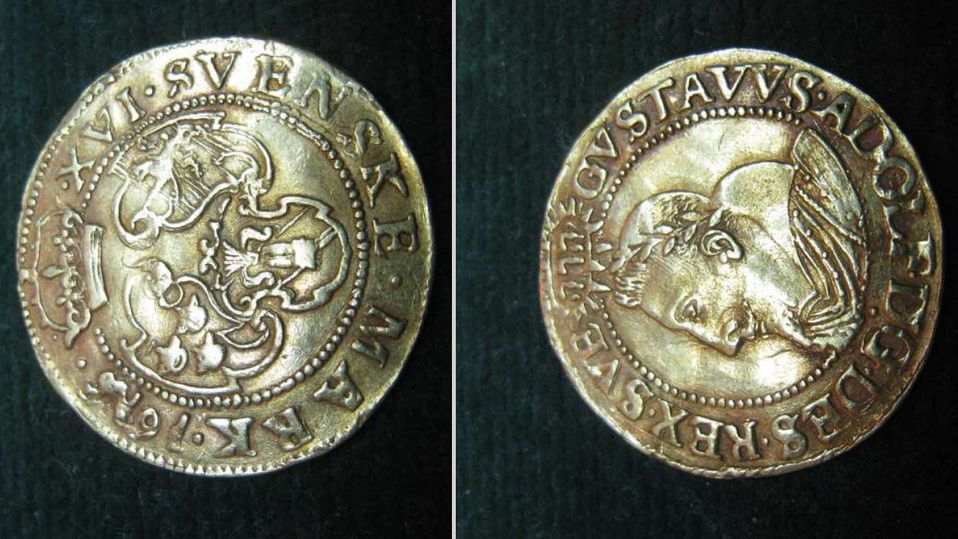 Ett av mynten som tagits i beslag. Foto: Polismyndigheten