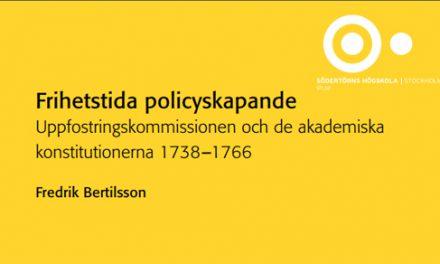 Uppfostringskommissionen och de akademiska konstitutionerna 1738–1766