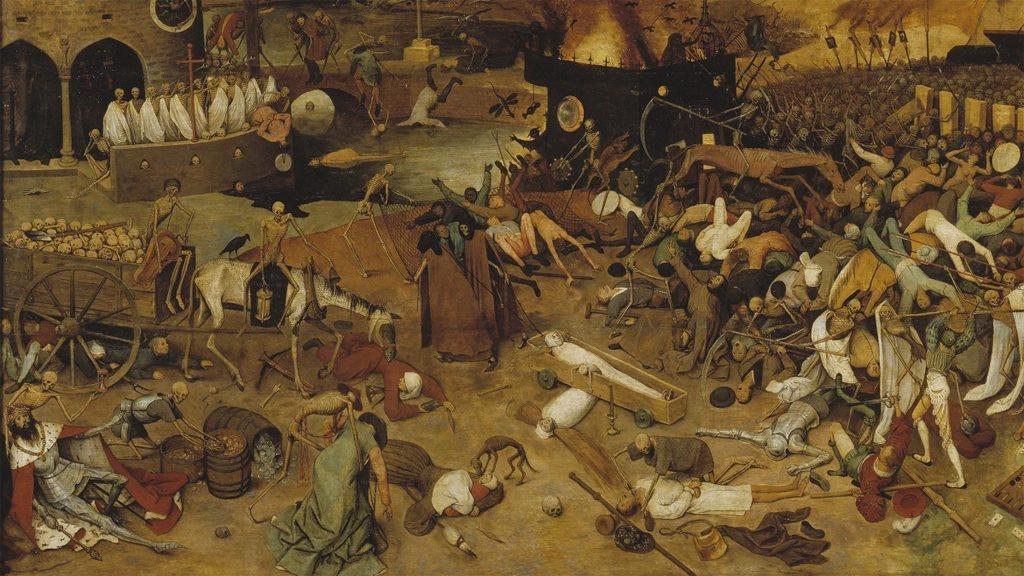 """Pieter Brueghel den äldre: """"Dödens triumf"""" (ca 1562), Museo del Prado, Madrid."""