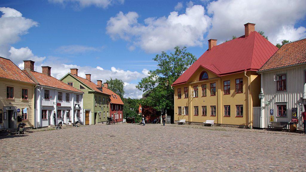 Kryddbodtorget i Gamla Linköping. Foto: Clemensfranz (Wikimedia Commons CC BY-SA 3.0)