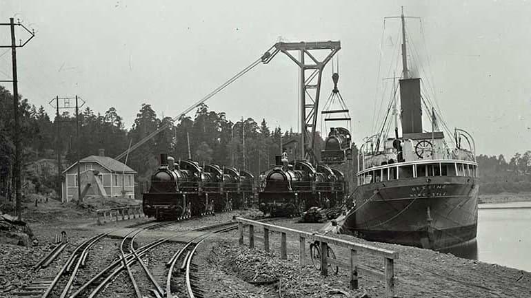 Foto ur Järnvägsmuseets samlingar.