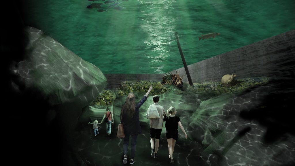 """Projekt """"Östersjöns skatter"""" - utställningsskiss."""